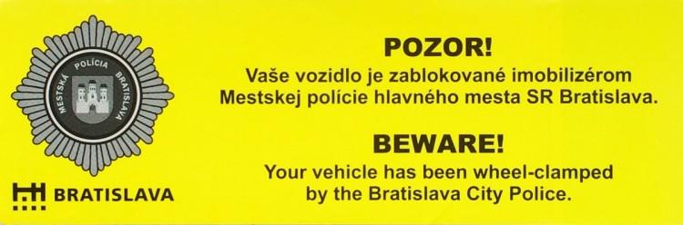 Pokuta za parkovanie Bratislava