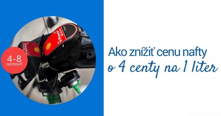 Ako znížiť cenu nafty o 4 centy na 1 liter.