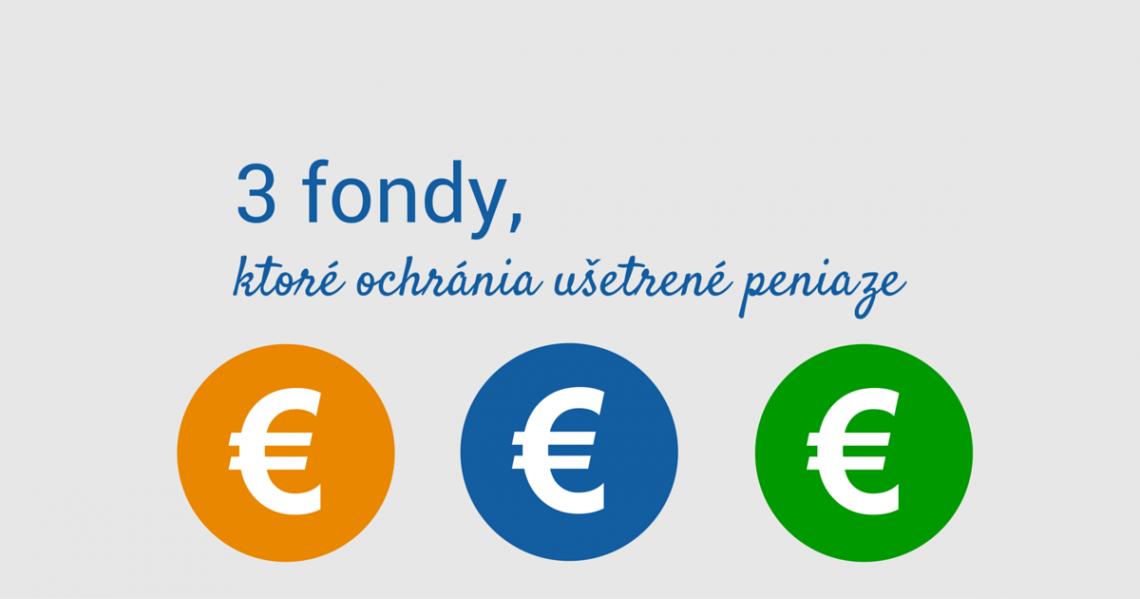 3 fondy, ktoré ochránia ušetrené peniaze